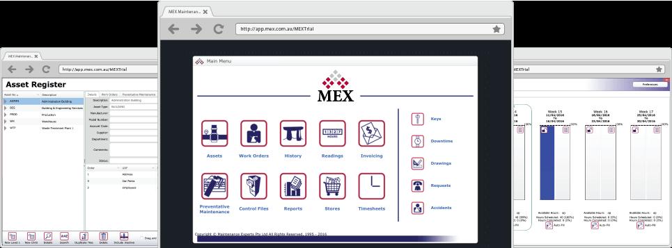 MEX Main Menu, Assets and PM